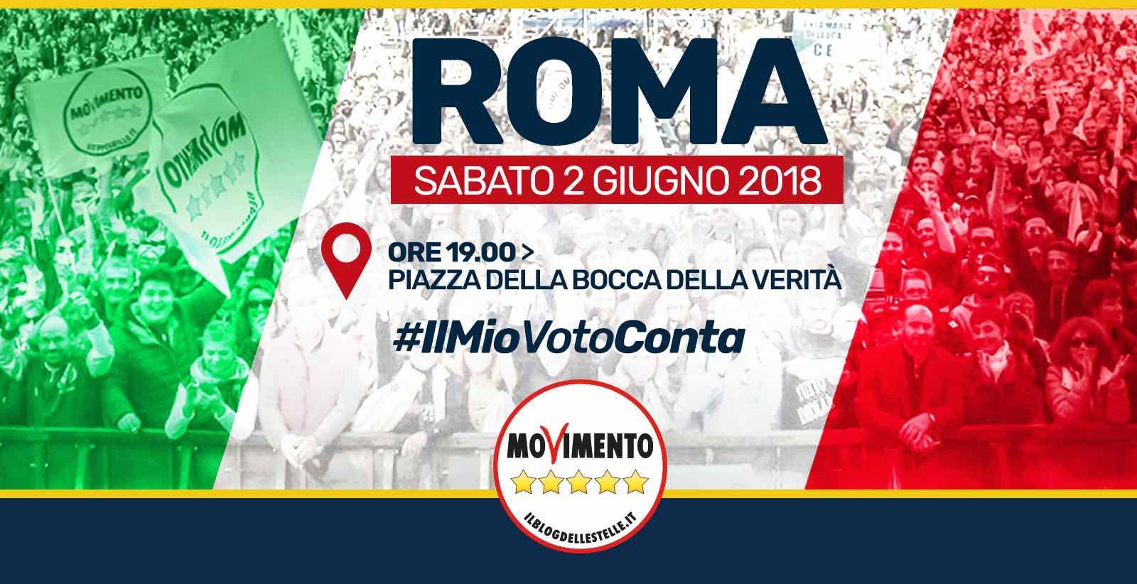 Il 2 giugno pacificamente a Roma in Piazza della Bocca della Verità: #IlMioVotoConta